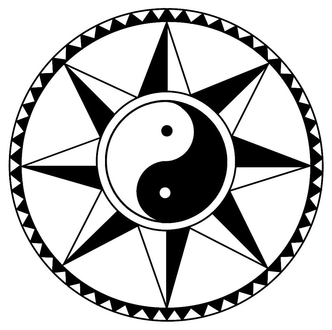 About shizendo martial arts translation of the mon the classics say look for the straight line within the circle this is depicted by the eight triangles pointing outwards placed buycottarizona