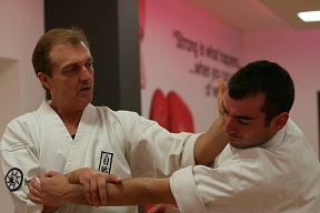 karate instructors performing karate kata
