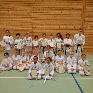 parents photo karate kids