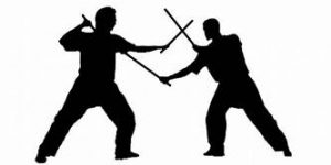 Escrima stick fighters
